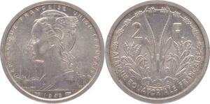 O186 Afrique Equatoriale Francaise 2 Francs Marianne 1948 SUP SPL