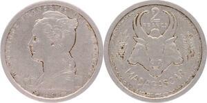 O196 Madagascar 2 francs Marianne 1948 -> Make offer