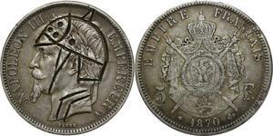 O277 Rare 5 Francs Napoléon III Satirique Guerre1870 A Paris Argent