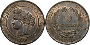 O286 Rare 10 Centimes Cérès 1886 A Paris FDC !!!!! > Make offer