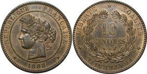 O288 Rare 10 Centimes Cérès 1888 A Paris Splendide +++ FDC  > Make offer