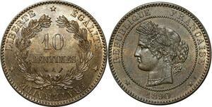 O289 Rare 10 Centimes Cérès 1890 A Paris FDC !!!! > Make offer