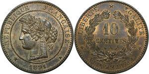 O290 Rare 10 Centimes Cérès 1891 A Paris Splendide !!!!!!!!!!!!!! > Make offer