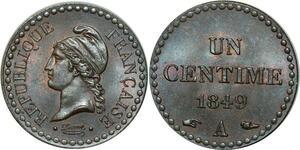 O311 Rare 1 Centime dupré République 1849 A Paris FDC !!! Un bijou