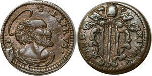 O347 Vatican Quattrino Benedict XIV P Lambertini Petrvs 1740 1758 > Make Offer