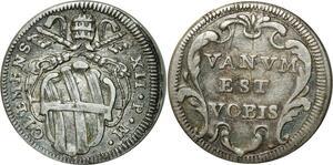 O350 Italy Grosso Clemente XII Vanvm est vobis 1730-1740 Argent Silver