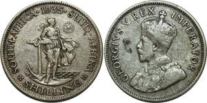 O732 Afrique du Sud South 1 Shilling George V 1935 Argent Silver