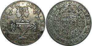 O798 Rare ! Jeton Trésorerie Générale Fermes de France Louis XIII 1628 Argent