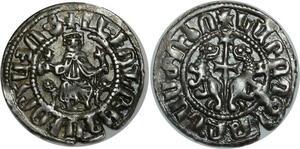 O816 Cilicie Royaume d'Armerie Leon Ier Roi d'Armenie Tram d'argent
