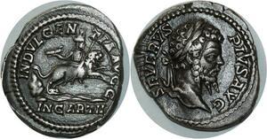 O821 Rare denarius denier Septimius Severus Indulgentia Avgg Rome 193-211 AD