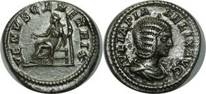 O822 denier Julia Domna Caracalla Ivlia Felix Avg Venvs Genetrix Rome 198-217