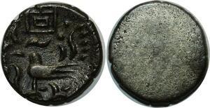 O833 Cambodge 2 Pe 1/2 Fuang Uniface Norodom I 1847 silver AU !!!