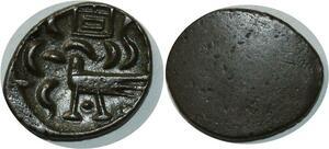 O834 Cambodge 2 Pe 1/2 Fuang Uniface Norodom I 1847 silver AU !!!