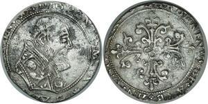 O852 Urbain VIII 1623-1644 1/2 Franc 1633 Avignon Silver XF to AU !!