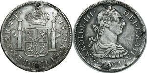 O858 Mexico 2 Reales Carlos III 1781 Mo FF Silver