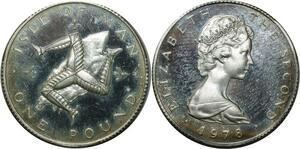 O861 Île de Man 1 Pound Elizabeth II 2nd portrait Argent Silver Proof
