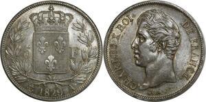 O865 Rare 5 Francs Charles X 1829 A Paris Argent Silver Superbe