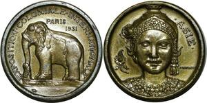 O965 Médaille Paris Colonial Exposition 1931 Asie Morlon