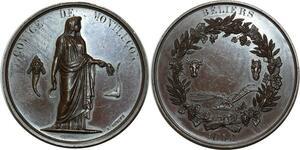 O976 Médaille Comice Montluçon Oudiné Beliers 1852