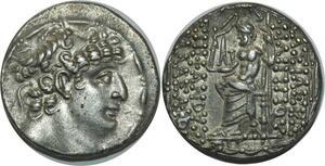 O1004 Royaume Seleucide Philadelphe 93-83 tétradrachme syrien silver AU