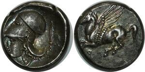 O1009 Corinthia Statère 340 AC Corinthe Corinthie R1 silver SUP