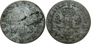 O1021 Rare !!! Louis XIV 15 XXX deniers 1712 AA Metz