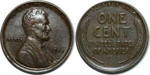 O1059 USA Lincoln Cent 1945 XF