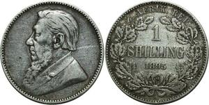 O1088 Rare ! South 1  Shilling Zuid Afrikaansche 1892 XF !!