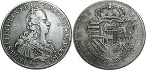 O1097 Italy Pietro Leopoldo I di Lorena 1765-1790 Francescone 1769 Silver