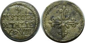 O1152 Italy Rare Poids Monetaire 4 quatre Pistoles X d VIII g