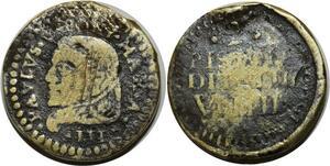 O1154 Very Rare !! Poids Monetaire Paul Pavlvs V Pont max 2 Pistole