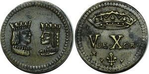 O1157 Spain Poids Monetaire du double ducat Ferdinand et Isabelle 1474-1504