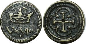 O1175 Rare Louis XIII Poids Monetaire Louis d'or XIII à partir de 1640