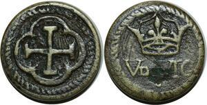 O1176 Rare Louis XIII Poids Monetaire Louis d'or XIII à partir de 1640