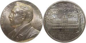 O1269 Rare coffret Médaille Pillet Adolphe Cherious 1920 25 ans Paris FDC