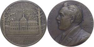 O1270 Rare Médaille atelier Pillet Adolphe Cherious 1920 25 ans mandat Paris
