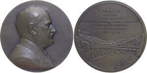 O1275 Rare Médaille atelier Ch. Pillet Fiancette 1938 Senateur Paris