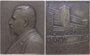 O1289 Rare Plaque atelier Pillet 1933 Louis Peuch 25 ans Paris Conseiller