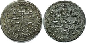 O1315 Algerie Mahmud II 1/8 boudjou 1244 1829 silver
