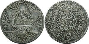 O1364 Rare !! Morocco Abd al-Aziz 2 1/2 dirhams 1321 AH 1903 Berlin