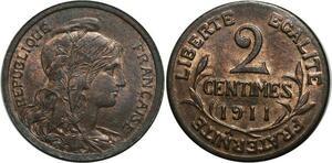 O1476 2 Centimes dupuis 1911 Splendide