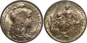 O1479 5 Centimes dupuis 1916 MS64 FDC !! ->Faire offre