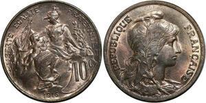 O1486 Rare !! 10 Centimes dupuis 1916 MS64 FDC