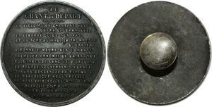 O1499 Medaille bouton Champ du Départ Tremblez ennemis de la France Silvered