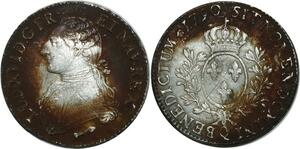 O1525 Tres Rare Ecu Louis XVI 1790 Q Perpignan Leg XVID Argent Silver