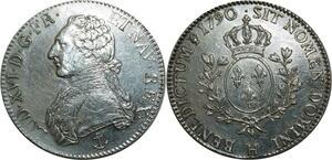 O1528 Rare Ecu Louis XVI 1790 H La Rochelle Argent Silver SUP