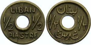 O1686 Liban émission locale 1/2 Piastre laiton s.d. 1942-1945