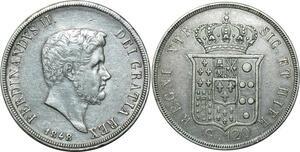 O1802 Italy Ferdinando II di Borbone 1830-1859 Piastra 120 Grana 1848 Silver