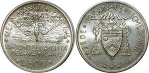 O1812 Italy Vatican Siège vacant 500 lire 1978 argent SPL