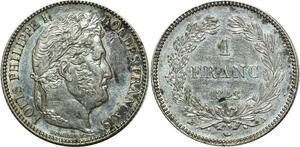 O1893 1 Franc Louis Philippe 1848 A Paris Argent Silver Superbe